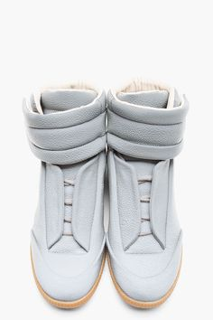 Maison Martin Margiela Grey Reflective Stingray High_top Sneakers