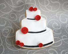 Wedding Cake Cookie via #TheCookieCutterCompany