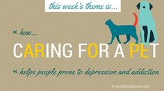 This week's moodfoodmove theme is how having a pet helps people prone to mental health issues like depression, addiction, anxiety. There is so much more to owning a pet than companionship. During this week we'll cover a number of topics involving pet ownership, and how they positively impact your mental health. You can love a pet, and he can love you back. x