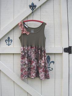 Boho tunic dress suntunic bohemian hippie romantic by ShabyVintage, $42.00