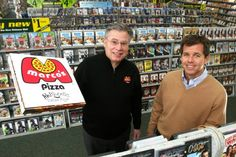 "A $100 million partnership between Marco's Pizza and Family Video will make ""pizza and a movie"" nights even more convenient by putting hundreds of Marco's outlets in the movie rental chain's stores.  Consumers will be able to place their food order and browse videos while they wait. They are also developing systems that let customers reserve movies online that they want to pick up in-store and order a pizza and a movie to be delivered together."