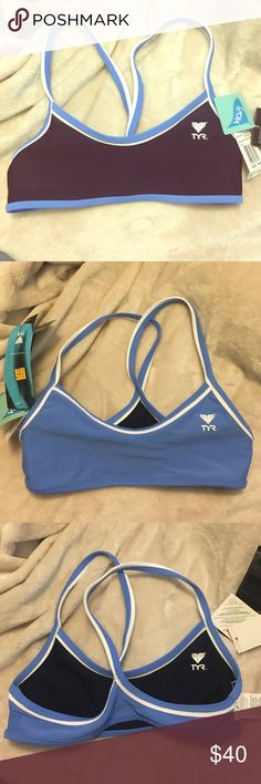 TYR swim workout top Never worn. Reversible TYR swim suit top. Still has tags Swim
