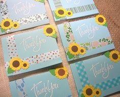 Sweet CARD Factory☆~手作りカード・ペーパークラフト大好き~-マスキングテープ 夏のカード ひまわり