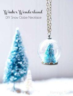 HAPPY Holidays: DIY Snow Globe Necklace! -- Tatertots and Jello