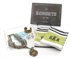 Peronalized housewarming gifts by Initial Outfitters