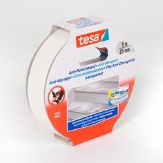 Cinta adhesiva antideslizante Tesa - Las cintas adhesivas antidelizantes tesa® son útiles en cualquier lugar donde haya peligro de caída. Ideales para evitar patinazos en escaleras, rampas, embarcaciones, o cualquier otra superficie resbaladiza. Pueden utilizarse también en exteriores.