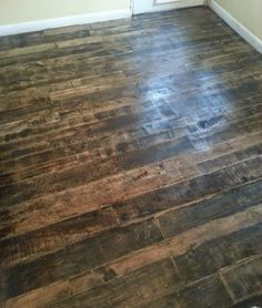 Pallet wood floor by Barnwood and Bangles - go to our blog to see how we did it!