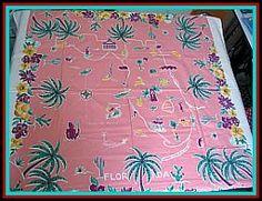 Vintage Florida Tablecloth
