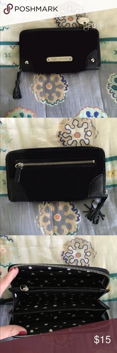 Black suede juicy couture wallet Used a couple times great, clean condition Juicy Couture Bags Wallets