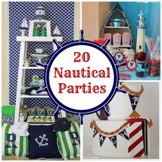 20 Nautical Parties for Inspiration #nauticalparty #nautical #nauticalstyle #sailing #sailingparty