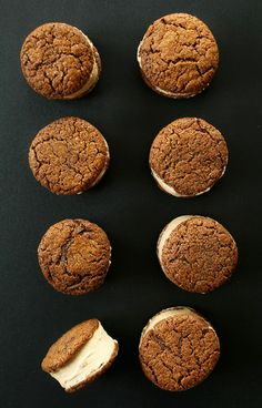 // Gluten Free Vegan Chai Ice Cream Sandwiches with Gluten Free Vegan Ginger Cookies