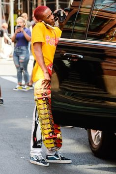 Jaden Smith Fashion, Bae, Lil Yachty, Most Beautiful Man, Celebrity Crush, Dyed Hair, Rapper, Crushes, Street Style
