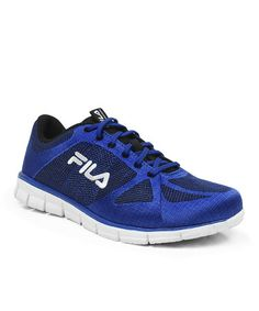 Take a look at this Blue Speedweave Running Shoe - Men by FILA on #zulily today! Been looking for this color for long time...these are perfect!!!