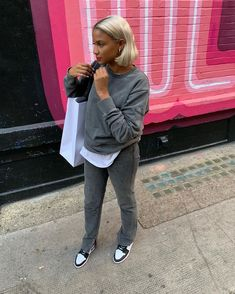 Chill Outfits, Dope Outfits, Outfits For Teens, Casual Outfits, Fashion Outfits, Women's Fashion, Fall Winter Outfits, Autumn Winter Fashion, Baddie Outfits For School
