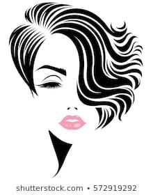 Immagini, foto stock e grafica vettoriale simili a tema illustration of women short hair style icon, logo women face on white background, vector - 512599735 Woman Silhouette, Silhouette Art, Facial Pictures, Face Stencils, Magic Illusions, Art Deco Paintings, Animal Print Wallpaper, Hair Sketch, Painted Wine Glasses