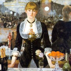 "Bar at Folies-Bergères by Edouard Manet, 1881. Inspired ""Aperitif"" handcrafted perfume oil extrait by Reliquary Perfumes™"