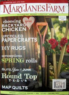 MaryJanes Farm Magazine Feb Mar 2012 Pot Roast 101 Art Quilting Folk Traditions