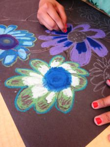 Oil and Chalk Pastel Art in Grade Four   Art Lessons For Kids
