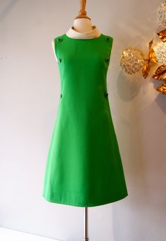 60s Mod Dress with side buttons