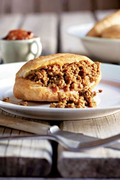 Kerriemaalvleis-vetkoek. South African food! Fried bread filled with ground beef curry.