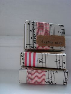 I love boxes wrapped in music notes!!