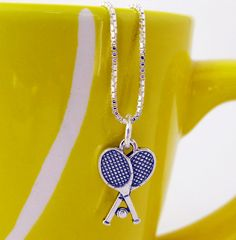 Tennis Jewelry Sterling Silver Tennis Necklace by TennisGiftsToGo, $19.95
