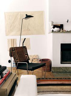 Lovely livingroom of Åsa Stenerhag, designer at Filippa K Woman, in Stockholm, Sweden | Photo by Jonas Ingerstedt for Elle Decoration