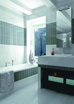 Bathroom interior design made of Zorka Keramika Tiles - Crystal