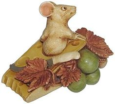 "Harmony Kingdom ""Gruyere - Version 2"" Mouse Figurine. #HarmonyKingdom #Statue #Sculpture #Decor #Gift #gosstudio .★ We recommend Gift Shop: http://www.zazzle.com/vintagestylestudio ★"