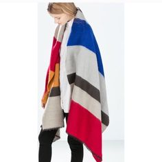 ✨ SALE ✨ Timeless Pop of Color Shawl /Scarf  Beautiful Timeless Pop of Color Shawl/Scarf ❣Last one in stock ❣ Accessories Scarves & Wraps
