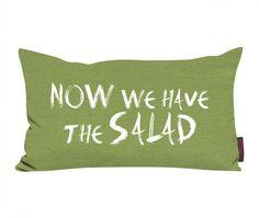 """Kissen Sprüche """"Now we have the salad"""" - Nicht ganz ernst gemeint - US Wahlen 2016"""