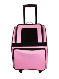 Petote Rio Pet Carrier Bag on Wheels, Black Trim/Light Pink >>> Discover this special dog product, click the image : Dog strollers