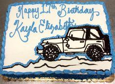 Jeep birthday sheet cake - Mueller's Bakery!