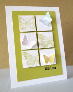 Stamping & Sharing: Butterfly Wishes on 6 squares