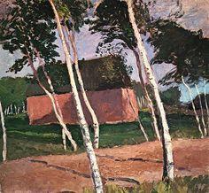 Paula Modersohn-Becker (All. 1876-1907),Worpsweder Landschaft (Paysage de Worpswede),1900,huile sur toile, 61,5 × 68cm, m...