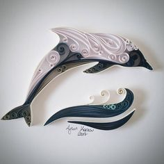 Quilled Paper Art: Dolphin