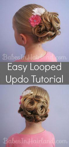 Kids Hair Tutorials - Easy Looped Updo