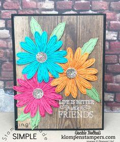 Bright & Bold card using Daisy Delight and Daisy Punch.