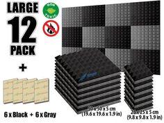New 8 pcs Set Wall Insulation Foam Kit Acoustic Panels Sound Absorption Studio Soundproof Foam 2 Colors Studio Soundproofing, Studio Foam, Bass Trap, Foam Panels, Sound Absorption, Sound Absorbing, Upholstery Foam, Foam Sheets, Wall Insulation