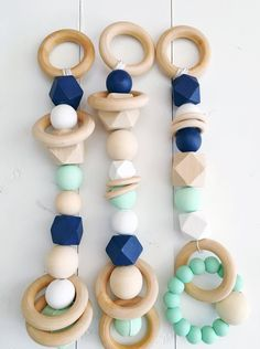 Scandi Baby Gym Toys With Silicone Teether