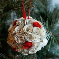 Enfeites de natal lindos feitos de papel