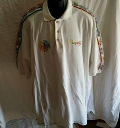 Coogi Australia white Polo Shirt Size 5XL BIG TALL short sleeve cotton Embroider #COOGI #PoloRugby