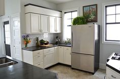 Ideas for Using that Awkward Space Above the Fridge | Apartment Therapy