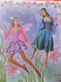 Fairy Pixie Princess Fairy Goddess Fairy by TheIDconnection Sewing Patterns For Kids, Cool Patterns, Vintage Sewing Patterns, Halloween Costume Patterns, Halloween Costumes, Fairy Costumes, Stage Play, Fairy Princesses, Vintage Halloween