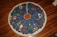 Image result for applique christmas tree skirt