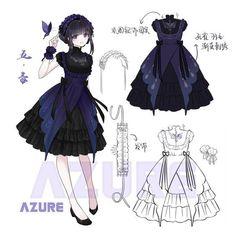 idea dress Gluten Free Recipes pier w gluten free menu Manga Clothes, Drawing Clothes, Clothing Sketches, Fashion Sketches, Anime Outfits, Girl Outfits, Vestidos Anime, Style Feminin, Lolita Mode