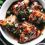 Instant Pot Honey Garlic Chicken Recipe - Sweet, savory, tender and OH SO juicy chicken thighs prepared with the most amazing honey garlic sauce and cooked in an Instant Pot. Dinner, from start to finish, will be ready in 30 minutes!