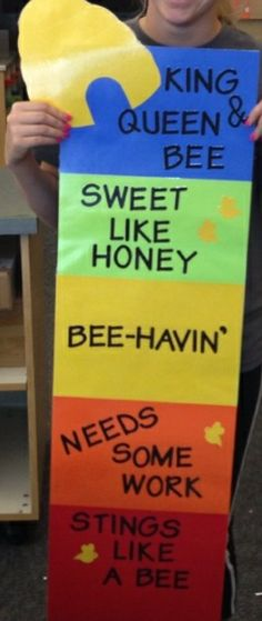 Bee- themed behavioral chart