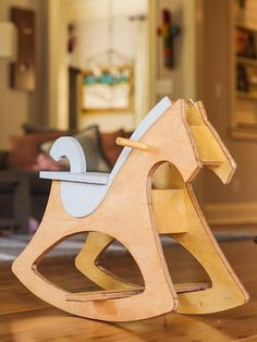Modern Rocking Horse by TimberandInk on Etsy Wood Games, Woodworking Toys, Kids Wood, Wood Creations, Wood Patterns, Wooden Crafts, Wood Toys, Kids Furniture, Wood Projects