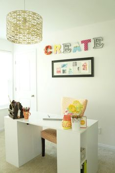 Love This Colorful Craft Room Reveal!